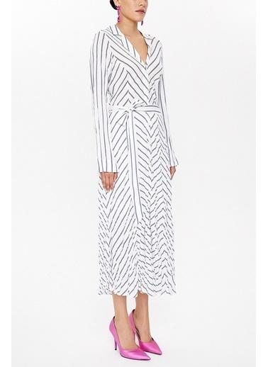 Societa Kraşlı Midi Elbise 92789 Lacivert